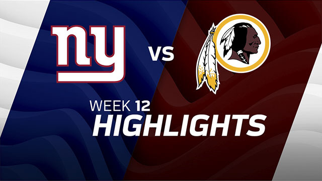 New York Giants vs. Washington Redskins highlights | Week 12