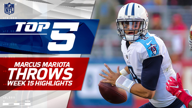 Top 5 Marcus Mariota throws | Week 15