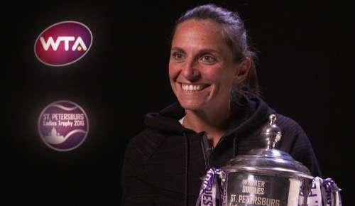 Vinci Interview: WTA St Petersburg Final