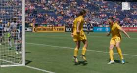 Matildas attacker Sam Kerr opens up on her remarkable first-half hat-trick against Japan at the Tournament of Nations.