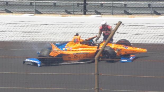 IndyCar - Le crash d'Alonso à Indianapolis
