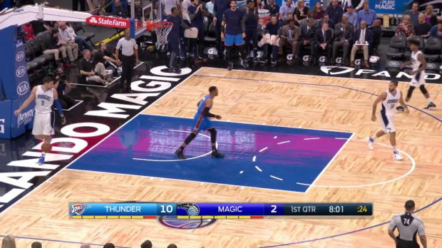 Westbrook with 57 points, 11 assists and 13 rebounds against Orlando Magic