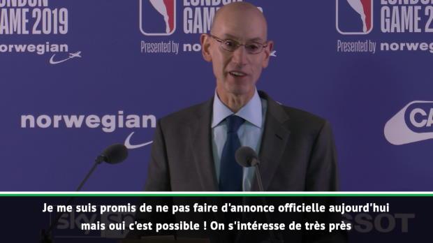 Basket : NBA - Adam Silver confirme que la NBA pourrait venir à Paris l'an prochain !