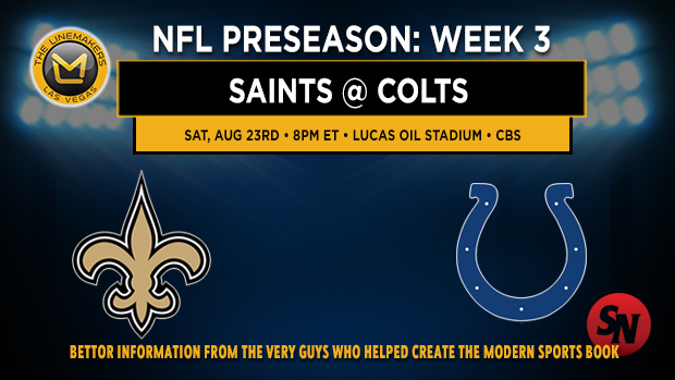 Saints @ Colts Preseason Week 3