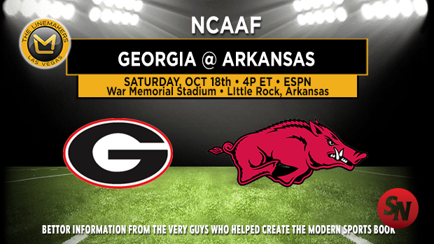 Georgia Bulldogs @ Arkansas Razorbacks