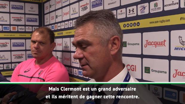 Top 14 : Top 14 - 3e j. : Meyer : 'On n'a pas d'excuse, Clermont mérite sa victoire'