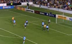 Joel Griffiths and Vaughan Coveny score in the 2-0 win over Sydney FC in the 2006/07 Semi-Final in front of 24,338 at Hunter Stadium