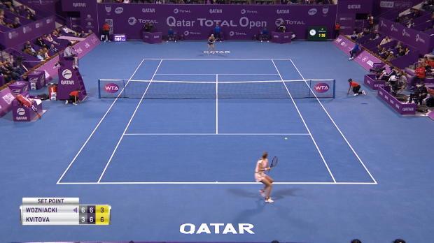 Tennis : Doha - Kvitova sort Wozniacki et file en finale