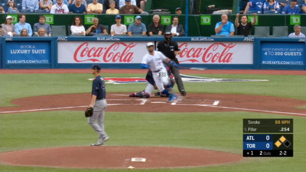 Culberson's tough catch at wall