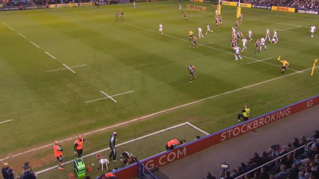 Aviva Premiership - Marland Yarde falls over