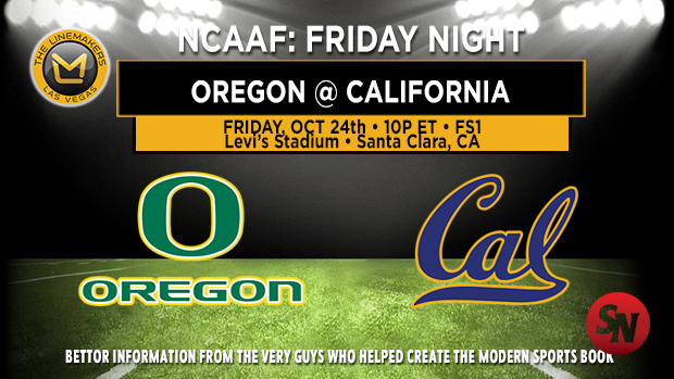Oregon Ducks @ California Golden Bears