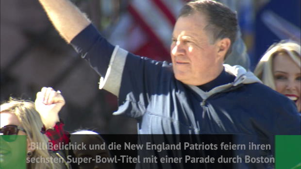 Parade in Boston: Patriots feiern NFL-Titel