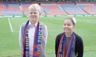 Experienced ground announcer Glen Hawke was joined by our junior ground announcer competition winners, Anita & Josh, for our round 22 home clash against Brisbane Roar!