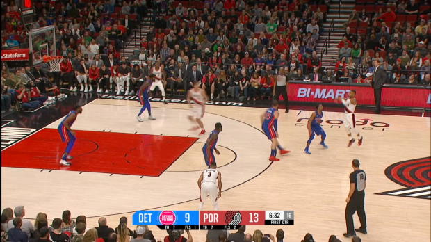 GAME RECAP: Trail Blazers 100, Pistons 87