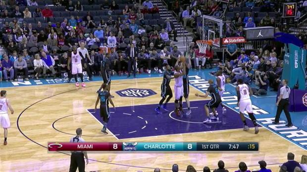 WSC: Highlights: Chris Bosh (20 points) vs. the Hornets, 2/5/2016
