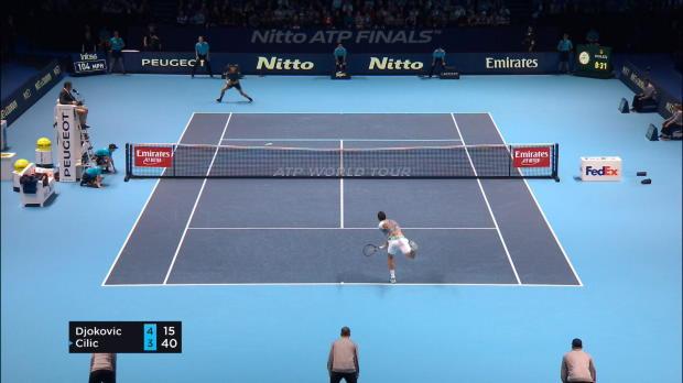 ATP-Finals: Dominator Djokovic fegt Cilic weg