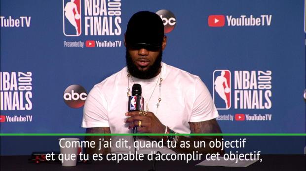 """Basket : Finale - LeBron James - """"Je pense avoir prouvé que je peux continuer à jouer"""""""