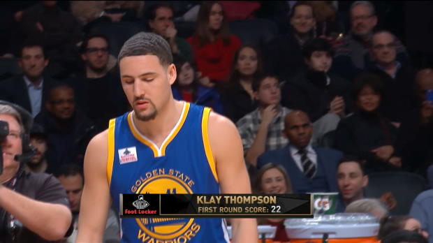Long Distance Play of the Night: Klay Thompson