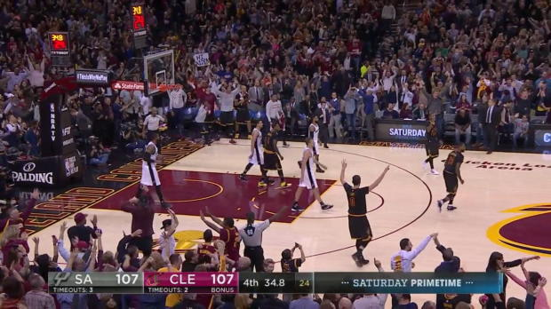 WSC: Top Play by LeBron James (3pt) vs. the Spurs