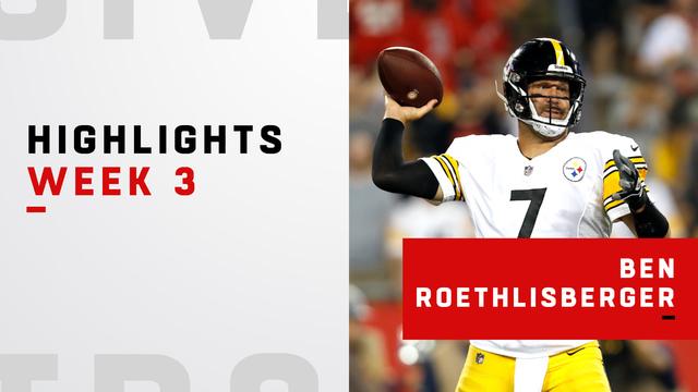 Highlights from Big Ben's third consecutive 300+ yard game | Week 3