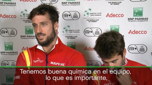 """Copa Davis - Feliciano López: """"No estamos confiados, estamos felices"""""""
