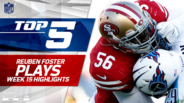Top 5 Reuben Foster plays | Week 15