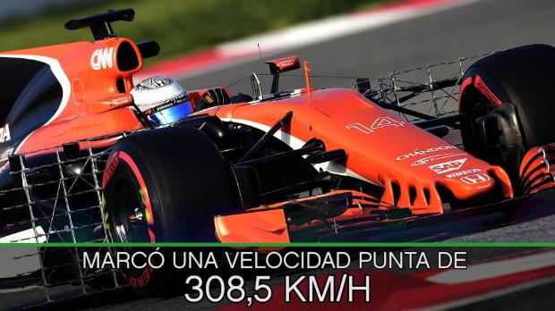 F1 - El McLaren de Alonso, el más lento en los test de Montmeló