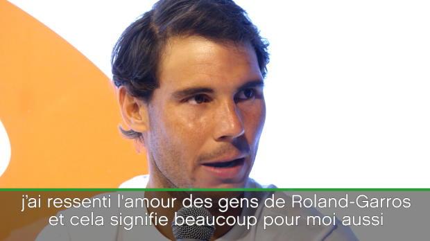 : Roland-Garros - Nadal - 'Ici, je me sens comme à la maison'