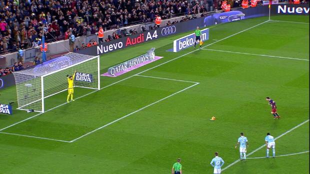 Barcelona 6 v 1 Celta Vigo - Messi-Suarez Penalty