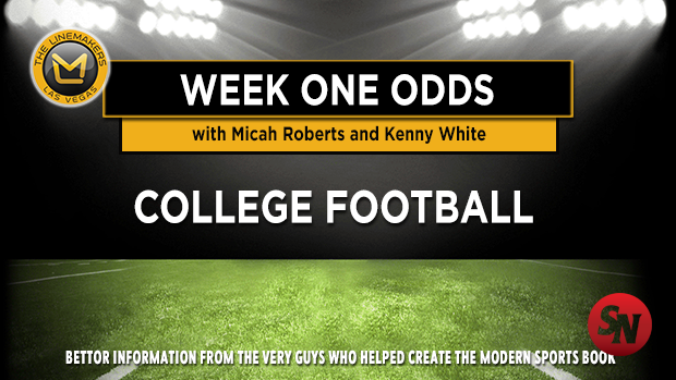 College Football Week One Odds