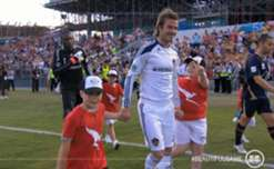 Newcastle Jets take on the LA Galaxy and David Beckham