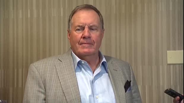 New England Patriots head coach Bill Belichick responds to tight end Rob Gronkowski's retirement