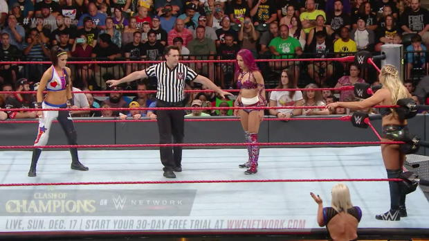 Charlotte vs. Sasha Banks vs. Bayley - Raw Women's Title Triple Threat Match: WWE Clash of Champions 2016 (Full match - WWE Network Exclusive)