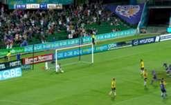 Perth Glory midfielder Ruben Zadvovich scored a long-range scorcher against the Phoenix.