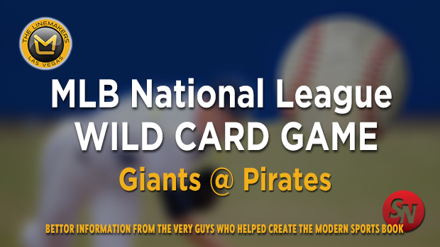 Giants @ Pirates   MLB National League Wild Card Game