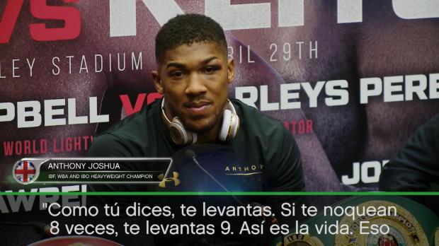 "Boxeo - Joshua: ""Si caes 8 veces, te levantas 9"""