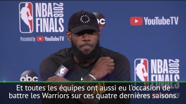 """Basket : Finales - LeBron - """"Si vous voulez d'autres équipes, il faut nous battre"""""""