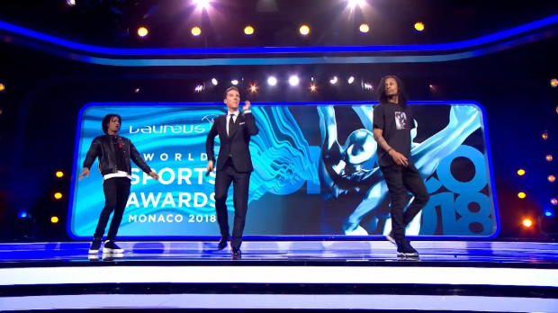 Laureus: Cumberbatch zeigt seine Dance-Moves