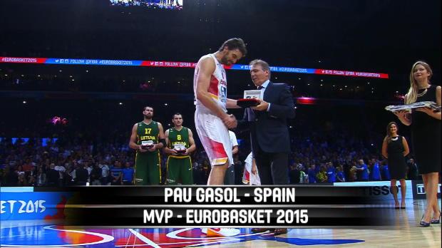 MVP - Pau Gasol - Spain - EuroBasket 2015