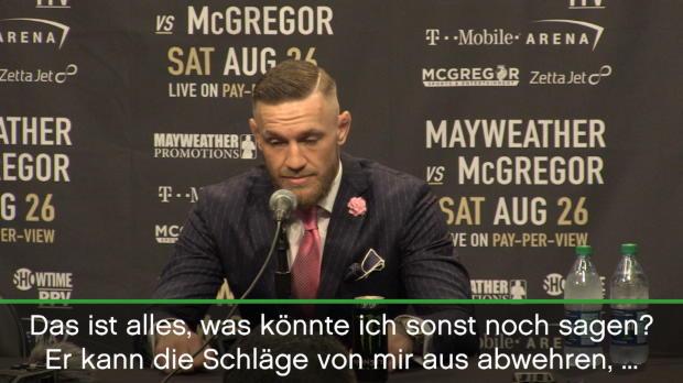 Boxen: McGregor provoziert, Mayweather locker