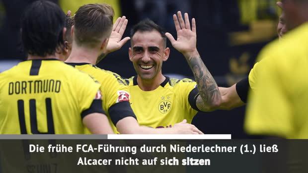 Reus, Alcacer und Co. überrollen Augsburg