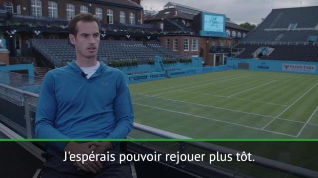 """Tennis : Queen's - Murray - """"J'espérais pouvoir rejouer plus tôt"""""""
