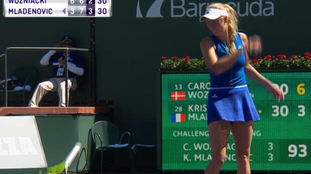 Indian Wells, nervosetta la Wozniacki...
