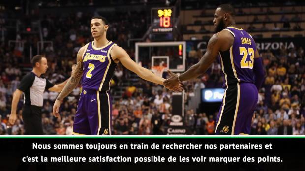 """Basket : NBA - James - """"Ball et moi sommes les mêmes"""""""