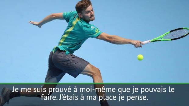 """Tennis : Goffin - """"Je suis devenu un meilleur joueur après cette semaine"""""""