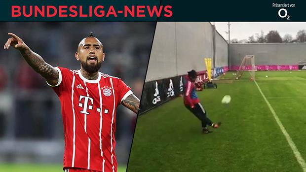 Was für ein Ding! | Vidal-Kunstschuss beim Bayern-Training | Bundesliga-News