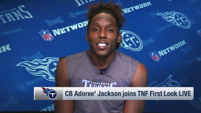 Tennessee Titans cornerback Adoree' Jackson reacts to first interception: I can't believe Houston Texans quarterback Deshaun Watson threw it