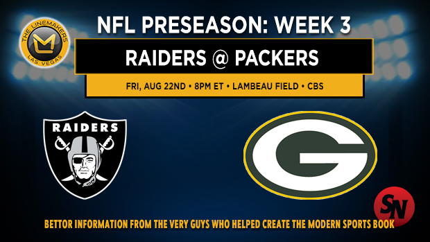 Raiders @ Packers Preseason Week 3
