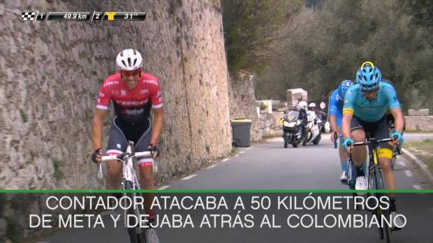 Contador se queda a 2 segundos de la gloria