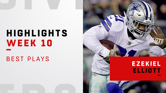 Ezekiel Elliott highlights on 'Sunday Night Football'   Week 10